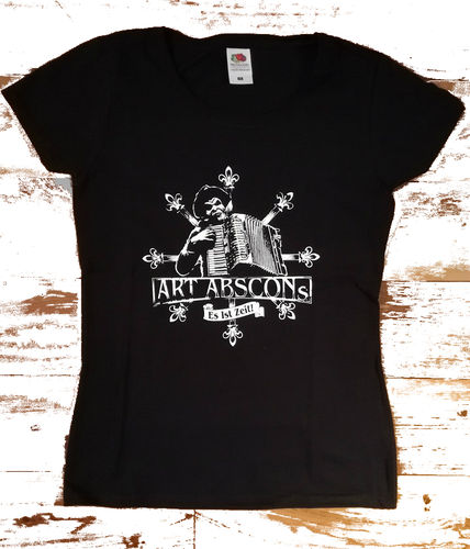 T-Shirt Art Abscons (Lady-Fit, weißer Druck)