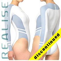 "N015 P-1 REALISE high neck Hydrasuit white-light-blue ""Super Shiny Wet"""
