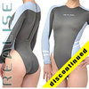 "N015 P-5 REALISE highneck Hydrasuit gray-lightblue-white ""Super Shiny Wet"""