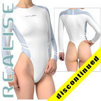 "T015 P-1 REALISE high neck Hydrasuit white-light-blue ""Super Shiny Wet"""