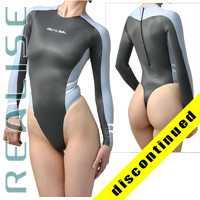 "T015 P-5 REALISE Hydrasuit gray-lightblue-white ""Super Shiny Wet"""