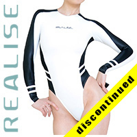 "T015 P-9 REALISE Hydrasuit white-black ""Super Shiny Wet"""