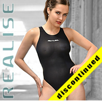 "N1001 REALISE ""SECONDSKIN"" classic see through hydrasuit in black"