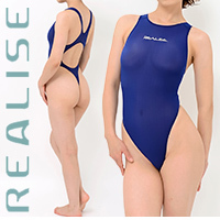 "T1001 REALISE ""SECONDSKIN"" klassischer Badeanzug in transparent navy"