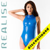 "N107 REALISE Hydrasuit in blue, highneck, classic leg ""STICKY SKIN"""