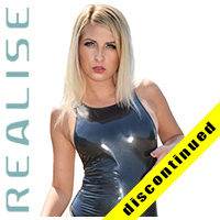 "N108 REALISE hydrasuit in black, classic leg & back ""STICKY SKIN"""