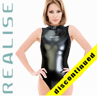 "N007 REALISE Hydrasuit in black, highneck, classic leg ""SHINY RUBBER"""