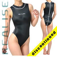 "N030 REALISE Badeanzug highneck schwarz ""Super Shiny Wet"""