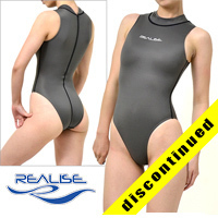 "N030 REALISE highneck hydrasuit gray ""Super Shiny Wet"""