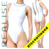"N030 REALISE highneck hydrasuit white ""Super Shiny Wet"""