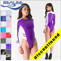 "Realise [N-015] ""SSW"" wetlook swimsuits, longsleeved (high neck)"