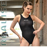 Realise [N-1001] SECONDSKIN transparent swimsuits with sportback