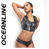 "OCEANLINE ""Layou"" neoprene bikini 2 pieces in black"