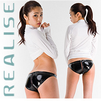 "RP001 REALISE bathing slip black ""Shiny Rubber"""