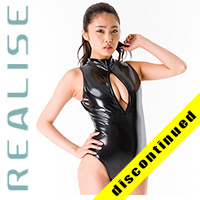 "N206 REALISE swimsuit black front zipper ""ENAMEL 2WAY"""