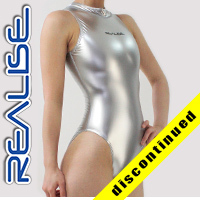"N007 REALISE Hydrasuit in silver, highneck, classic leg ""SHINY RUBBER"""
