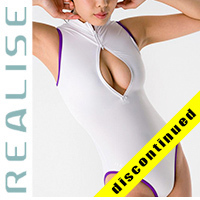 "N506 REALISE front zipper hydrasuit ""Super Shiny Wet"" in white-purple"