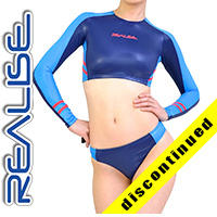"N035 P-1 REALISE hydrasuit 2 piece ""Super Shiny Wet"" in navy-blue"
