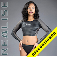 "N035 P-2 REALISE hydrasuit 2 piece ""Super Shiny Wet"" in black-gray"