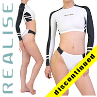 "N035 P-3 REALISE hydrasuit 2 piece ""Super Shiny Wet"" in white-black"