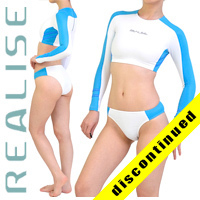 "N035 P-5 REALISE hydrasuit 2 piece ""Super Shiny Wet"" in blue-white"
