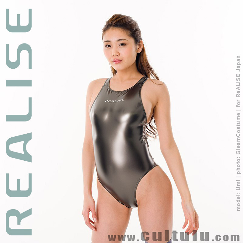N908 REALISE swimsuit in GUNMETAL with sportback