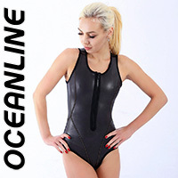 "OCEANLINE ""Victoria"" neoprene swimsuit with frontzipper"