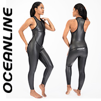"OCEANLINE ""Sprint Skin FL"" neoprene swimsuit in black"
