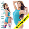 "N1001 REALISE ""SECONDSKIN"" classic see through hydrasuit in blue"