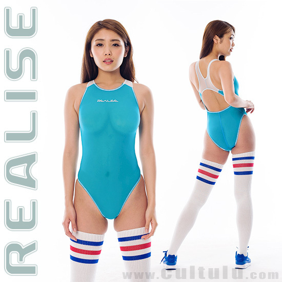 "N1001FL REALISE ""SECONDSKIN"" see through swimsuit in blue / white"