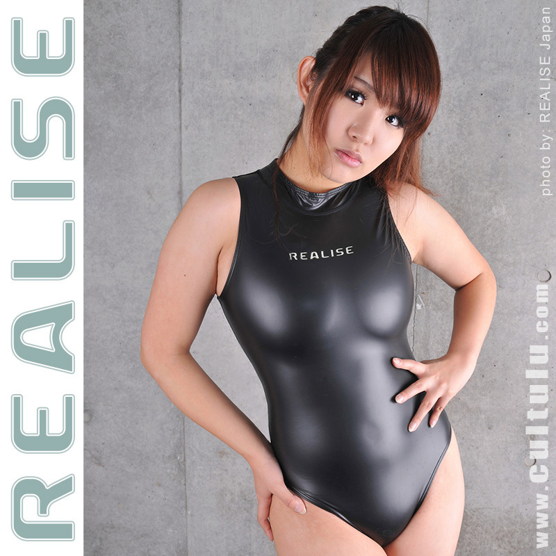 N707 REALISE JAPAN ENAMEL Waterpolo swimsuit in black