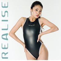 "N709 REALISE ""Reflector Pipe"" swimsuit in black JAPAN ENAMEL"