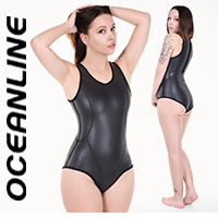 "OCEANLINE ""Paola"" neoprene swimsuit with back zipper"