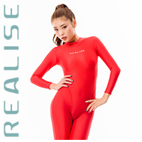 REALISE FB-001 catsuit full body swimsuit red