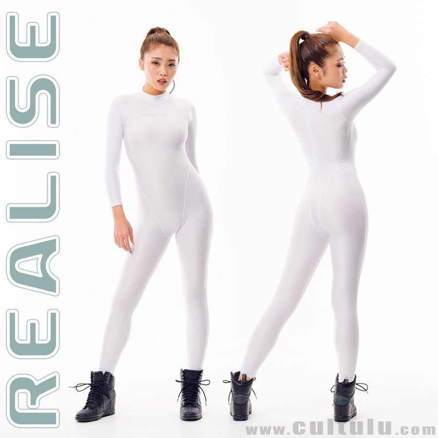 REALISE FB-001 catsuit full body swimsuit white