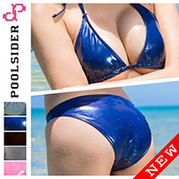Realise & Poolsider [BK-001] rubberized bikini 2piece