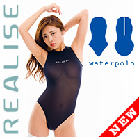 "N2020 REALISE ""ITALIAN SHEER"" see through waterpolo swimsuit in black"