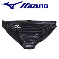 85RQ96 MIZUNO rubberized Waterpolo swim briefs in black