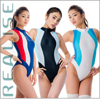 "Realise [N-0371] ""Easy Stretch"" waterpolo athletic swimsuits (high neck)"