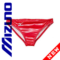 85RQ96 MIZUNO rubberized Waterpolo swim briefs in red
