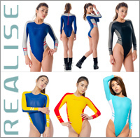 "Realise [N-151] ""Easy Stretch"" wetlook waterpolo swimsuits, longsleeved"