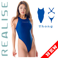 "T111 REALISE klassischer String-Badeanzug navy ""Easy Stretch"""