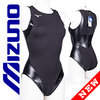 MIZUNO N2JQ8260 rubberized waterpolo swimsuit black