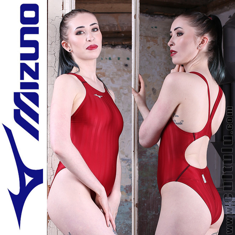 MIZUNO N2MA8221 FINA swimsuit with sportback red