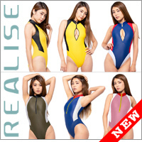 "Realise [N-0376] ""Easy Stretch"" frontzipper waterpolo athletic swimsuits"
