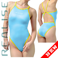 "N0331 REALISE Sukumizu swimsuit ""Easy Stretch"" lightblue"