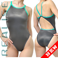 "N0331 REALISE Sukumizu swimsuit ""Easy Stretch"" darkgray"