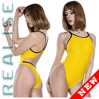 "N0331 REALISE Sukumizu swimsuit ""Easy Stretch"" yellow"
