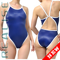 "N0331 REALISE Sukumizu swimsuit ""Easy Stretch"" navy"