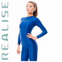 REALISE FB-001 catsuit full body swimsuit blue